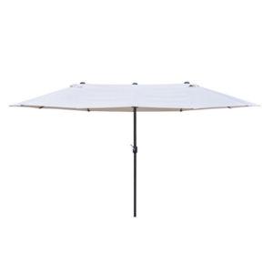 Ombrellone Rettangolare Beige Loule Papillon 270x445x250 cm