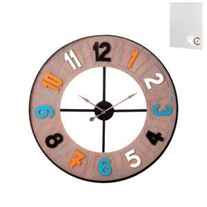 Orologio da parete design moderno decoro color H&H 60 CM