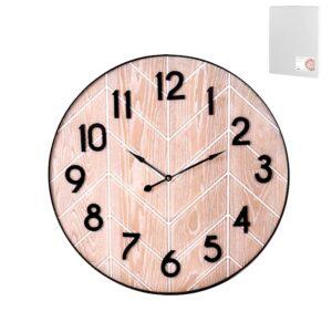 Orologio da parete design moderno decoro effetto legno H&H 60 CM