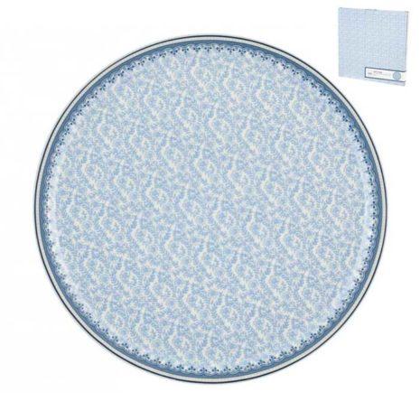 Piatto in porcellana per torta portata 30 cm Blue Dream H&H