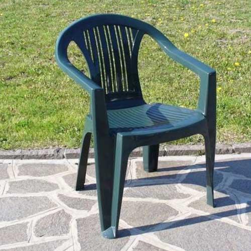 Sedie Plastica Per Giardino.Set 4 Sedie Giardino Plastica Ratak 56x56x79 Cm Verde