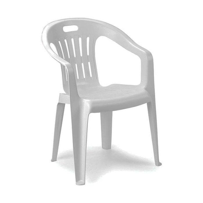 Sedie Da Esterno In Plastica.Set 4 Sedie Giardino Plastica Piona Impilabile 56x55x78 Cm Bianco