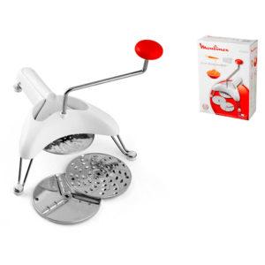 Utensile cucina Moulijulienne con 3 dischi per tagliare grattugiare affettare