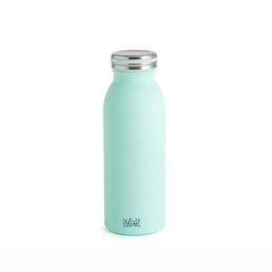 Bottiglia termica Lulabi in acciaio azzurro caldo freddo 6 ore 0,45 litri H&H