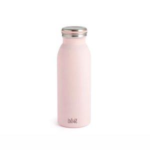 Bottiglia termica Lulabi in acciaio rosa caldo freddo 6 ore 0,45 litri H&H