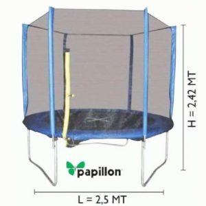 TAPPETO ELASTICO ACHETA BLU PAPILLON 250x242 cm