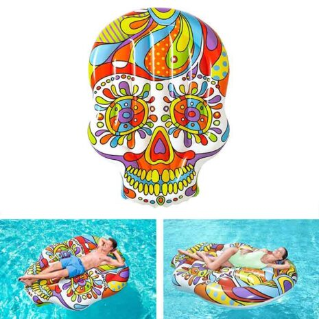 Gonfiabile Teschio 190X139 CM Bestway 43194 Fiesta Skull Island