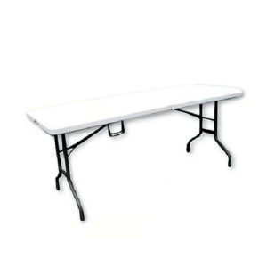 Tavolo pieghevole in valigetta Happy Hour bianco 244x76x72 cm Papillon