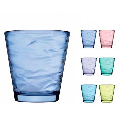 Set 6 Bicchieri Pasabahce Origami Colorati 24,5 cl