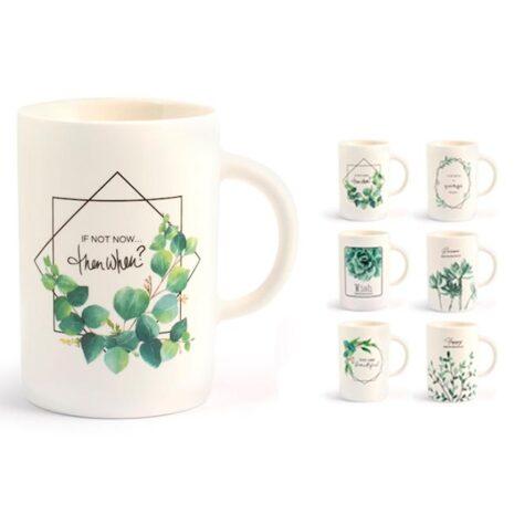 Tazza Mug decori assortiti new bone china 400 cc Botanic H&H