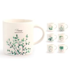 Tazza tè decori assortiti new bone china 220 cc Botanic H&H