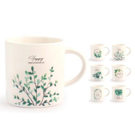 Tazza tè decori assortiti new bone china 220 cc Botanic H&H