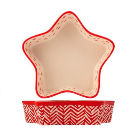 Pirofila a forma di stella Rouge in stoneware H&H 20 cm
