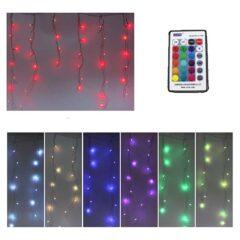 TENDA SFALSATA TELECOMANDO RGB COLOR 120 LED 300X80 cm