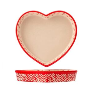 Pirofila a forma di cuore Rouge in stoneware H&H 20 cm