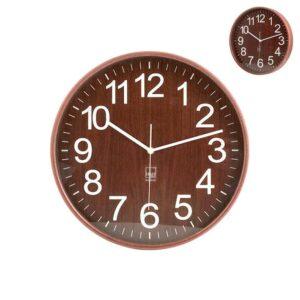 Orologio da Parete in legno scuro diametro 32 cm H&H