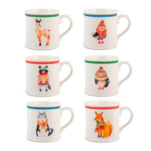 Mug new bone china Winter Animal decori assortiti H&H 350 ml