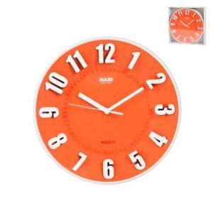 Orologio da Parete tondo Arancione diametro 25 cm Habi