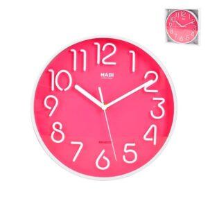 Orologio da Parete tondo Fucsia diametro 25 cm Habi