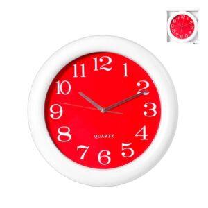 Orologio da Parete numeri bianchi su sfondo rosso diametro 40 cm H&H