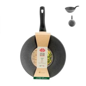 Wok 1 manico Ballarini Cortina Granitium Eco Induzione 28 cm