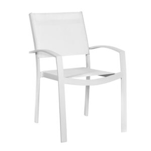Sedia con braccioli alluminio textilene impilabile Chianca 56x66x86 cm