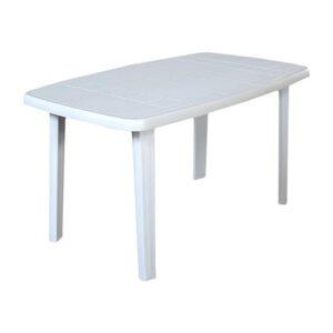 Tavolo Plastica Giardino Faro Bianco 137x85x72 cm