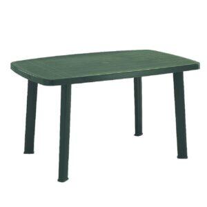 Tavolo Plastica Giardino Faro Verde 137x85x72 cm