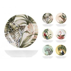 Piatto fondo in ceramica decori assortiti Ø 20 cm Savana H&H