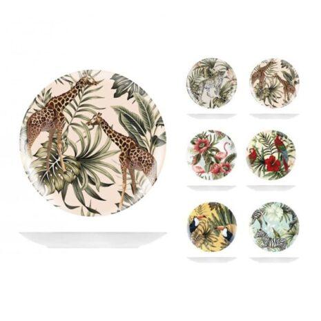 Piatto frutta in ceramica decori assortiti Ø 21 cm Savana H&H