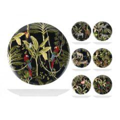 Piatto piano in ceramica decori assortiti Ø 26,5 cm Savana H&H