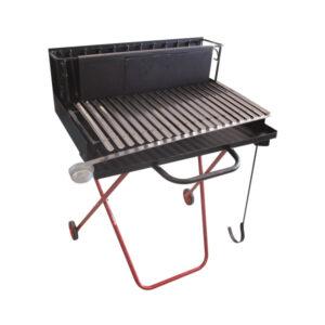 Barbecue legna 100X70X78 cm griglia inox raccogli grasso Pegoraro Angelo