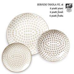 Servizio 18 Piatti Porcellana Decorata MISAKI Arabel Brinsley Exclusive Collection