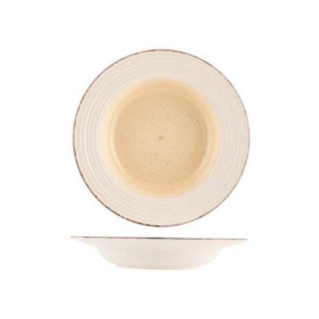 Piatto Piano Fondo Frutta Tierra in stoneware marrone beige Home