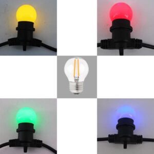 Party Lights LAMPADE DI RICAMBIO Rosso Giallo Verde Blu Filamento
